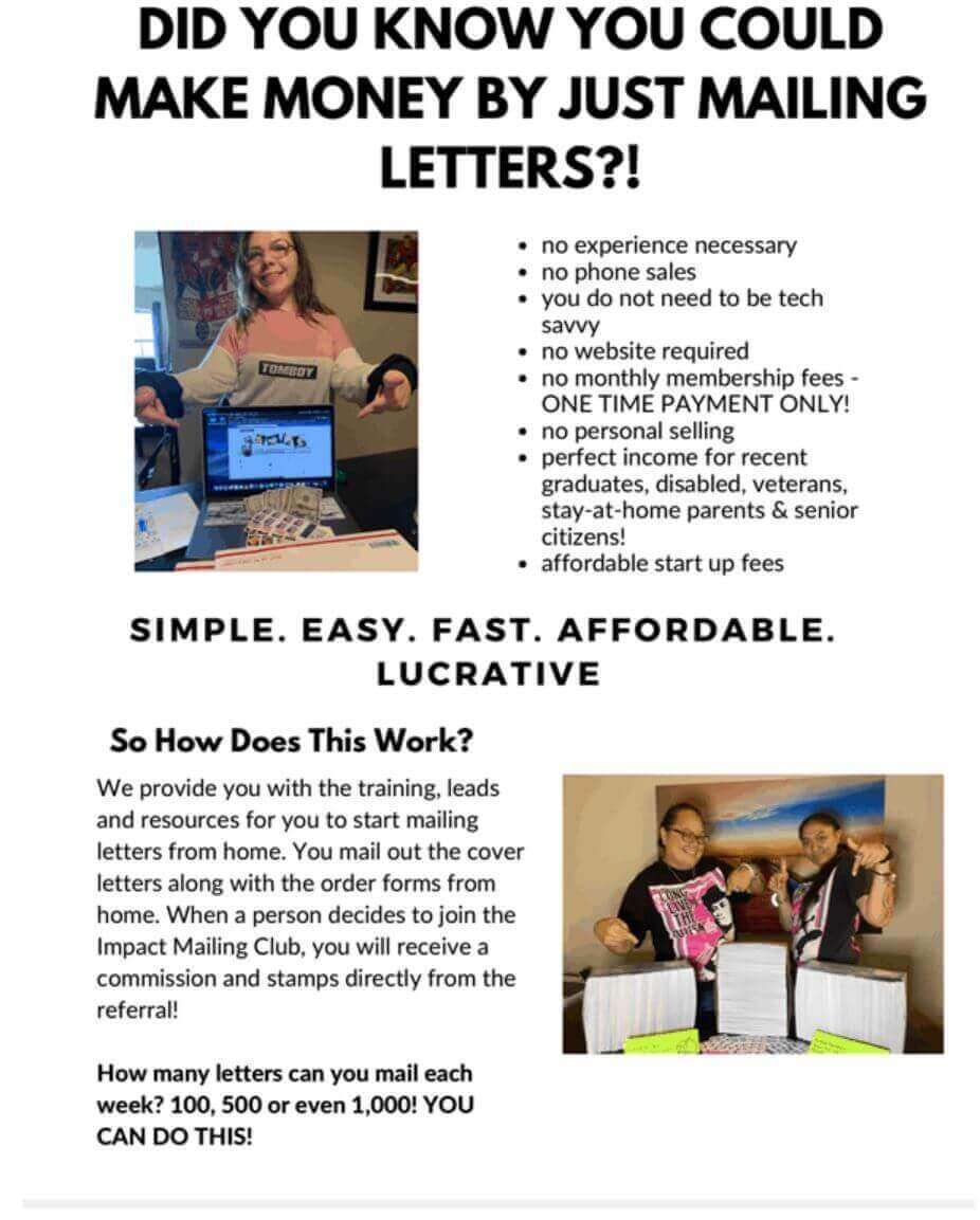 impact mailing club cover letter
