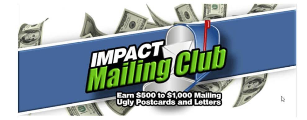 impact mailing club landing page
